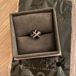 David Yurman Cable Wrap Ring Black Onyx
